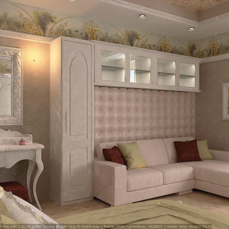 Small house in the village with an interesting name Murzinka in 3d max vray image