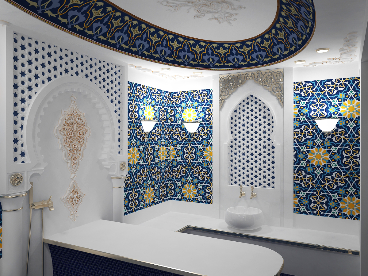 Turkish sauna 02 in 3d max vray 3.0 image