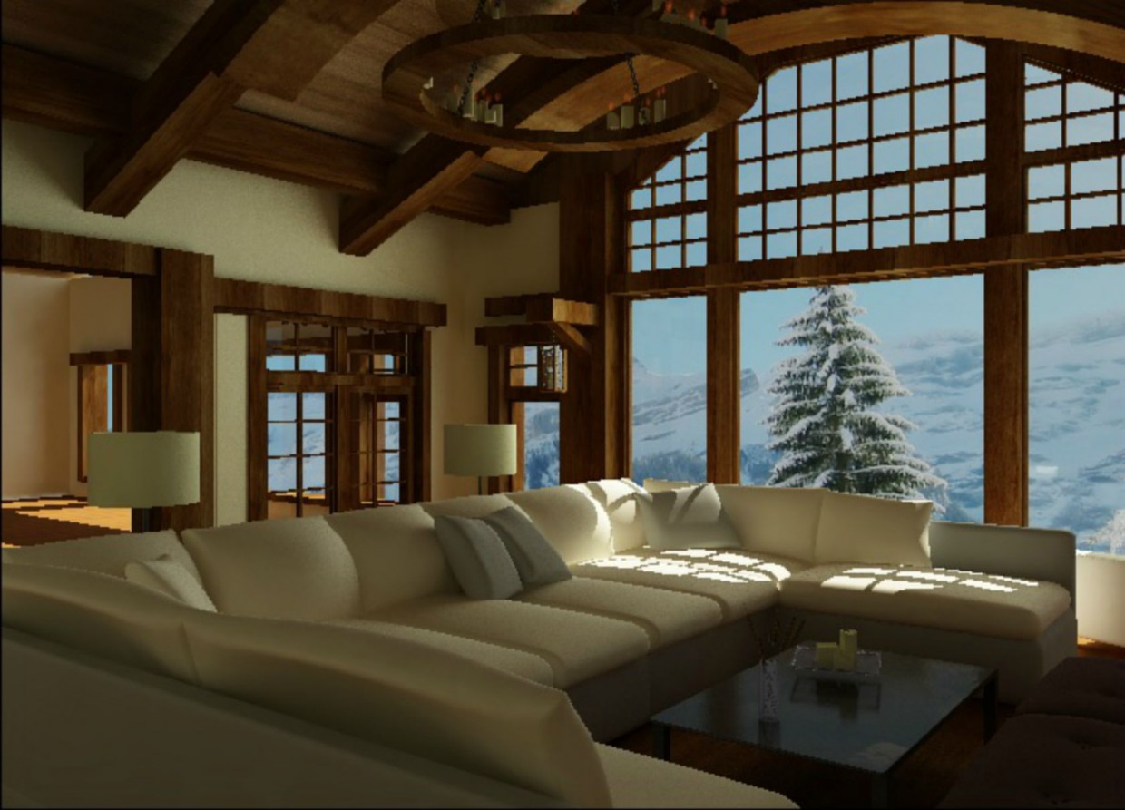 country house in 3d max vray image