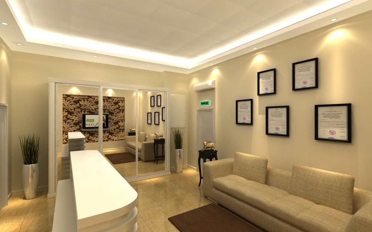 reception in 3d max vray image
