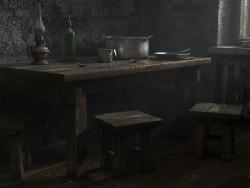 पुराने ख्रुश्चेव में रसोई