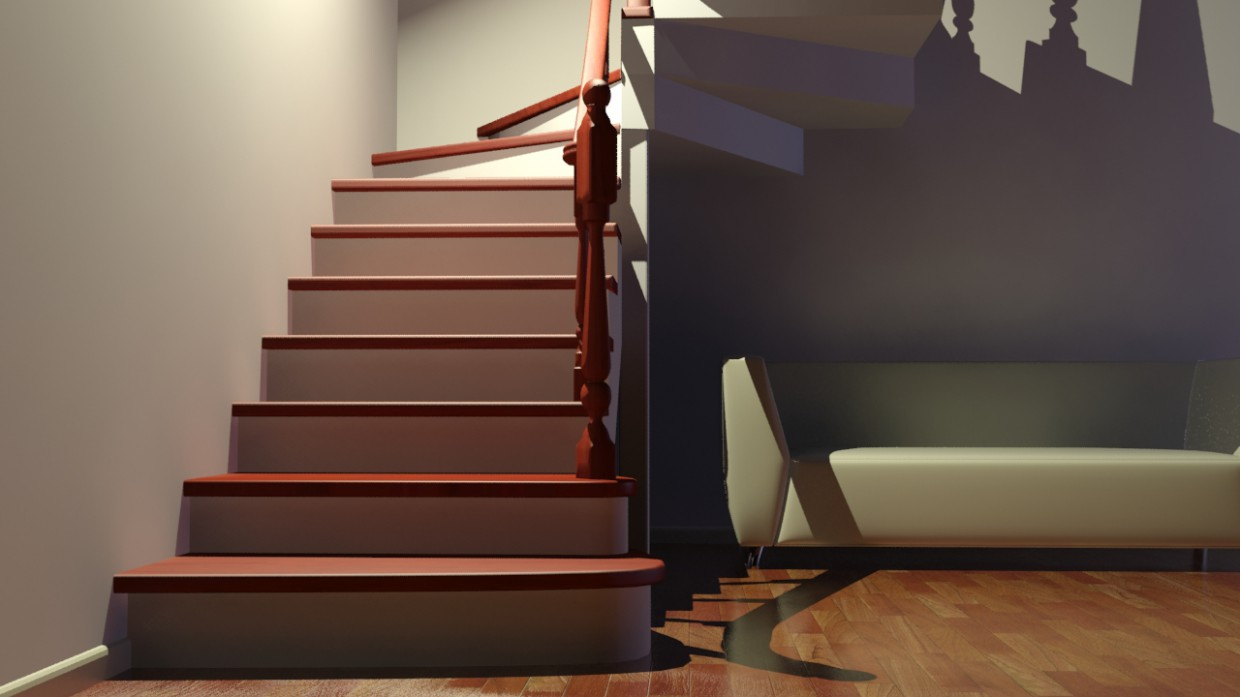 ladder in 3d max mental ray image
