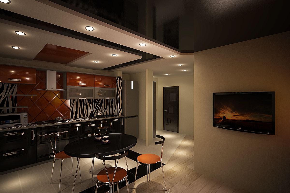3d візуалізація проекту кухня-студія в 3d max, рендер vray від артем-артем