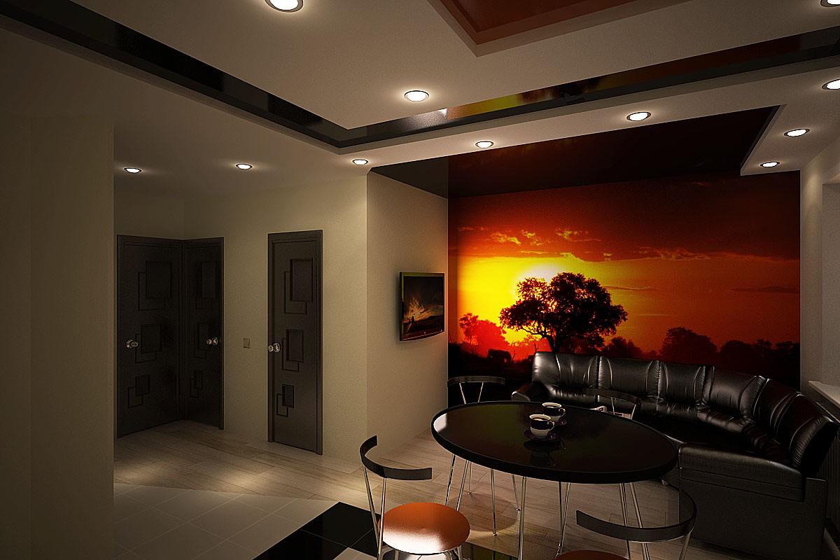 kitchen Studio in 3d max vray image
