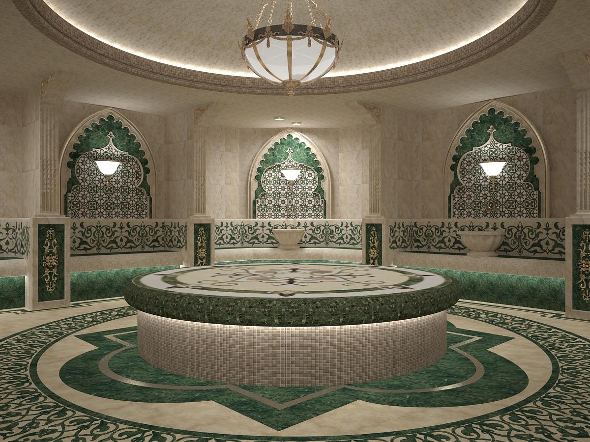 Turkish sauna 04 in 3d max vray 3.0 image