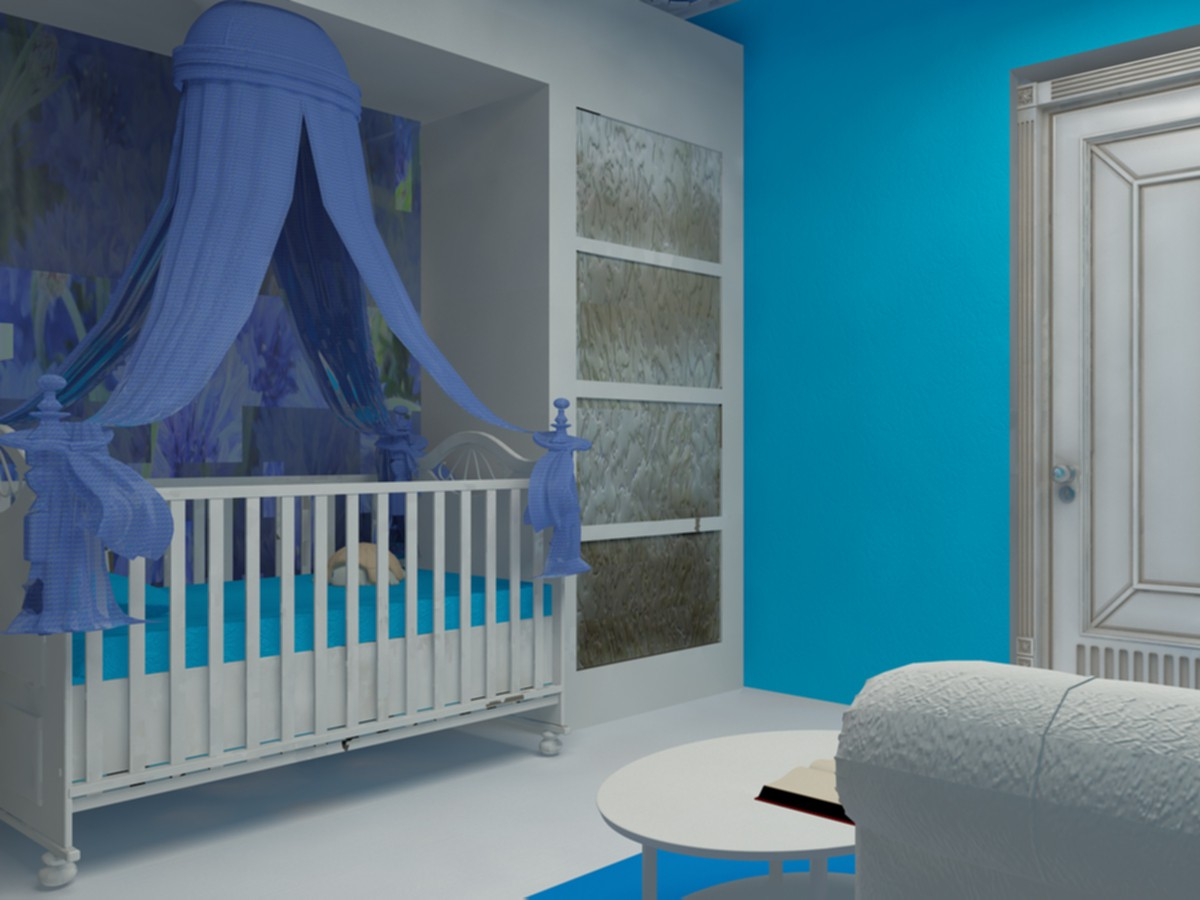 3d visualization of the project in the Nursery 3d max, render vray of diasik7