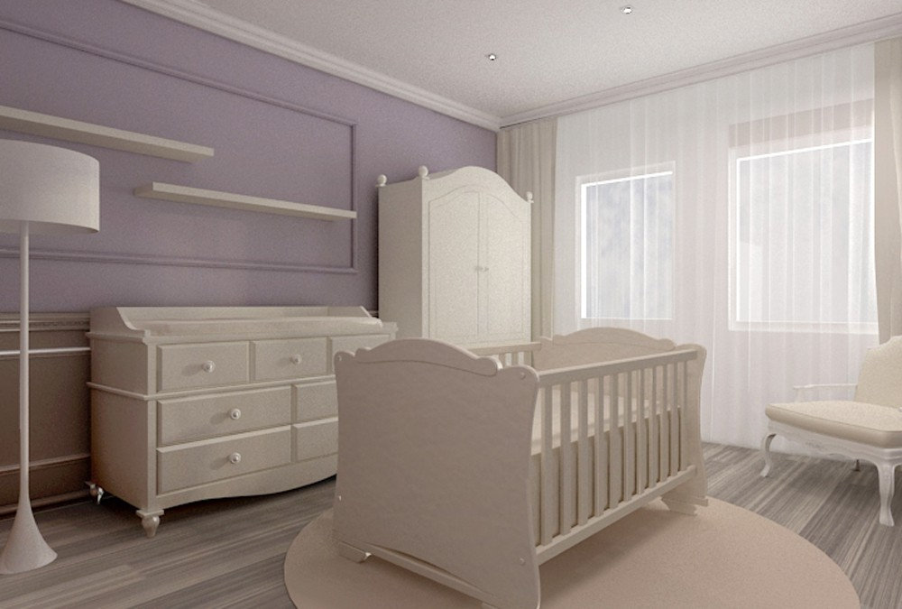 Bedroom for a young family in 3d max vray image