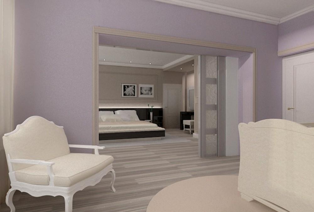imagen de Habitación para una familia joven en 3d max vray