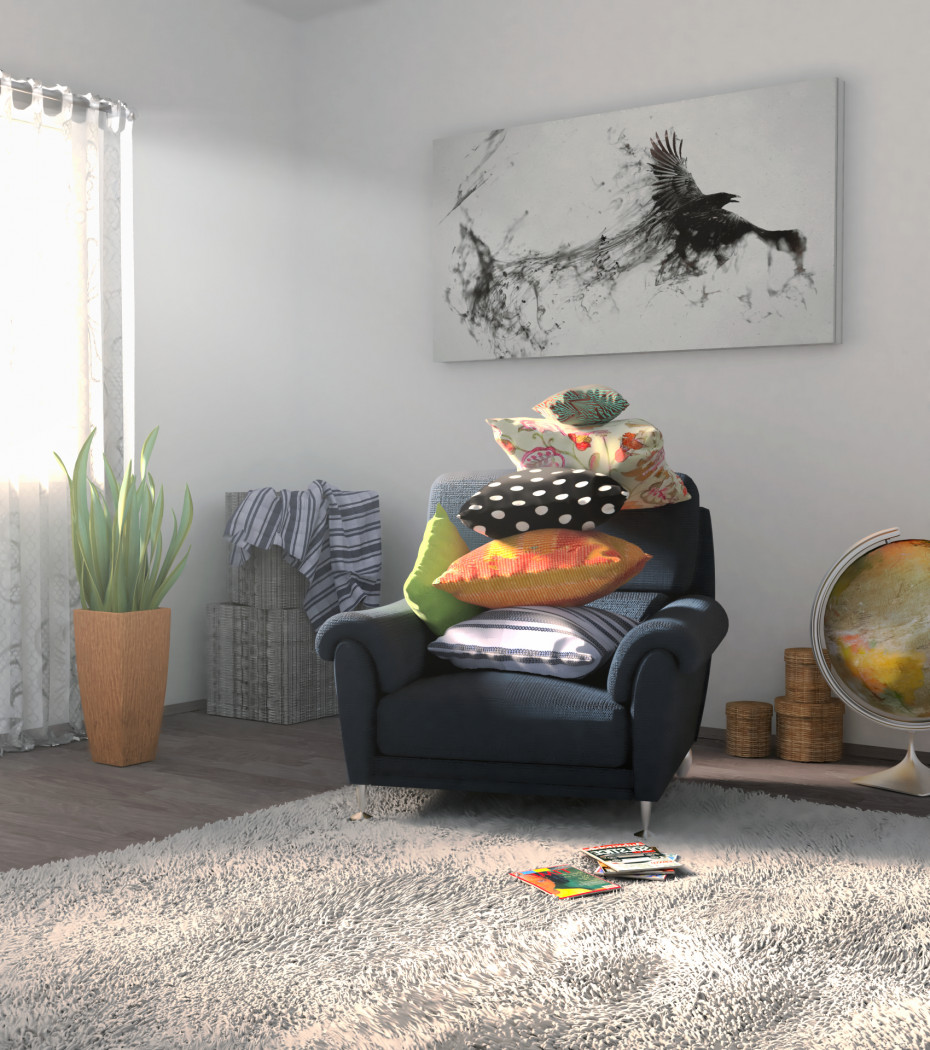 Pillows in Blender cycles render image
