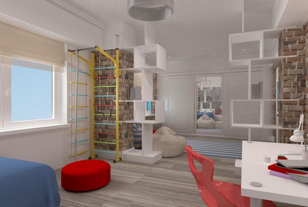 imagen de Habitacion para chico de cinco años en 3d max vray