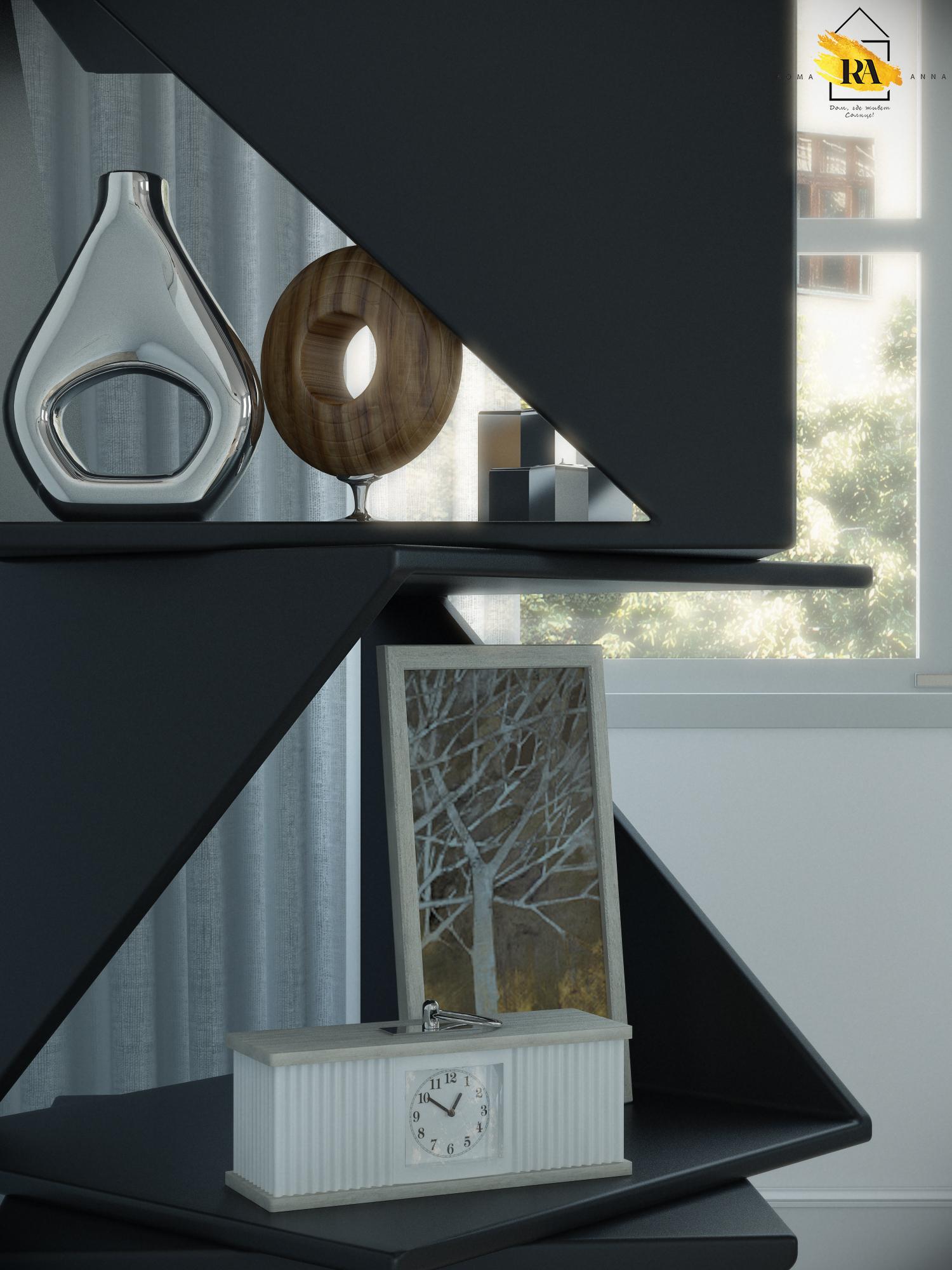 Visualização da sala de estar em 3d max vray 3.0 imagem