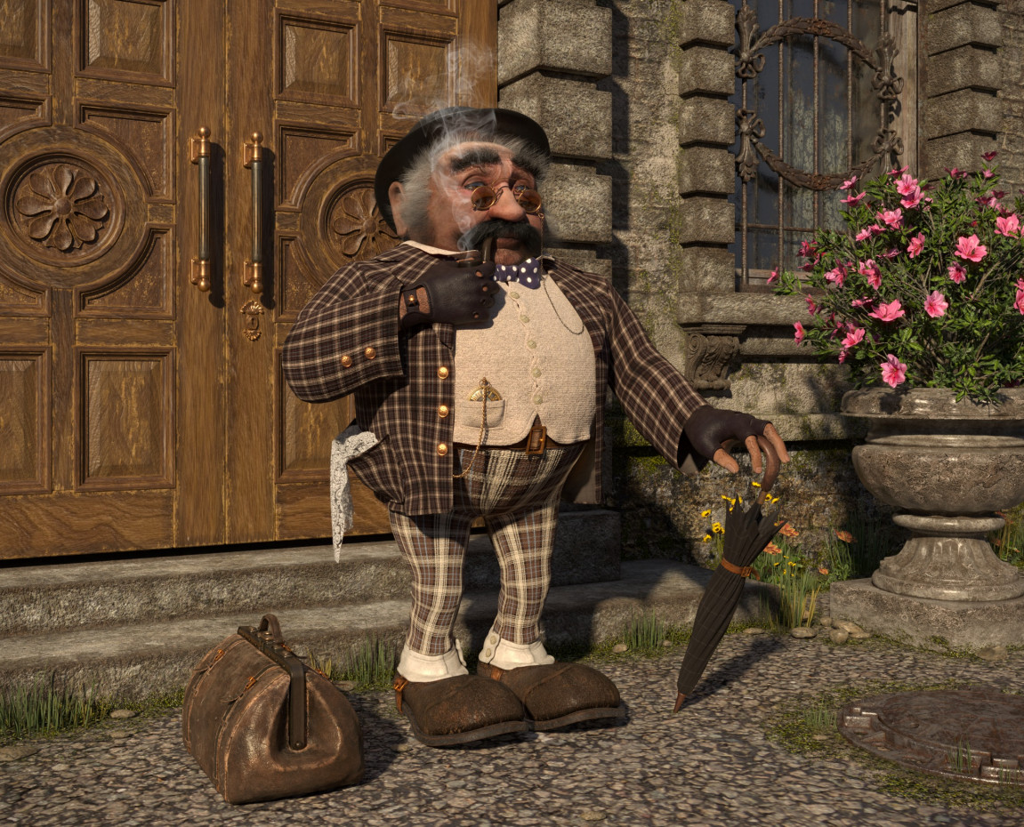 Nicholas in 3d max corona render image
