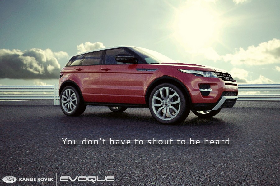 imagen de Range Rover Evoque en 3d max vray