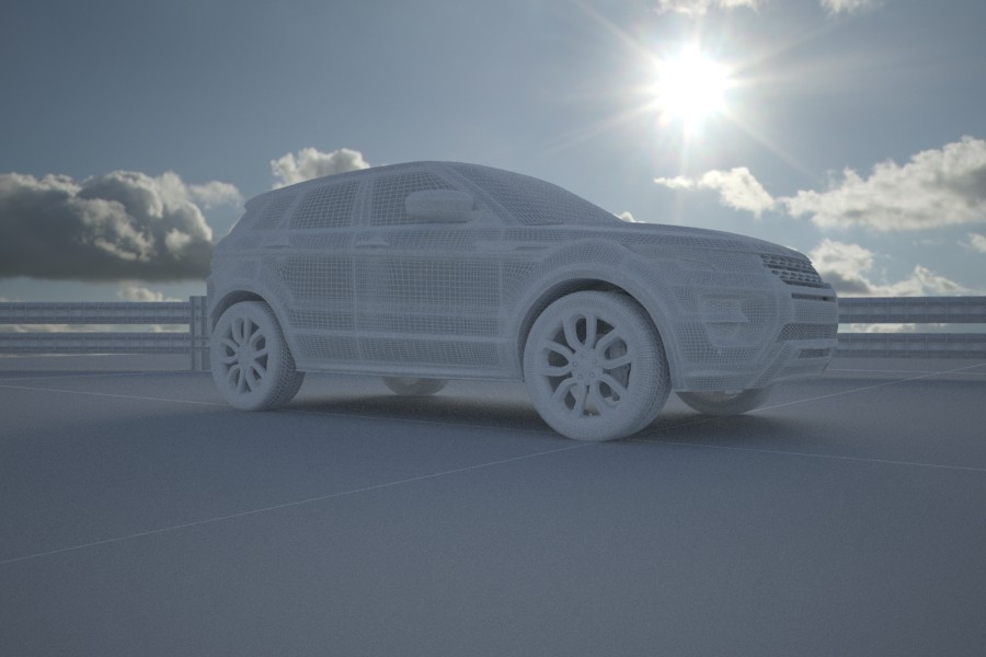 Range Rover Evoque in 3d max vray image