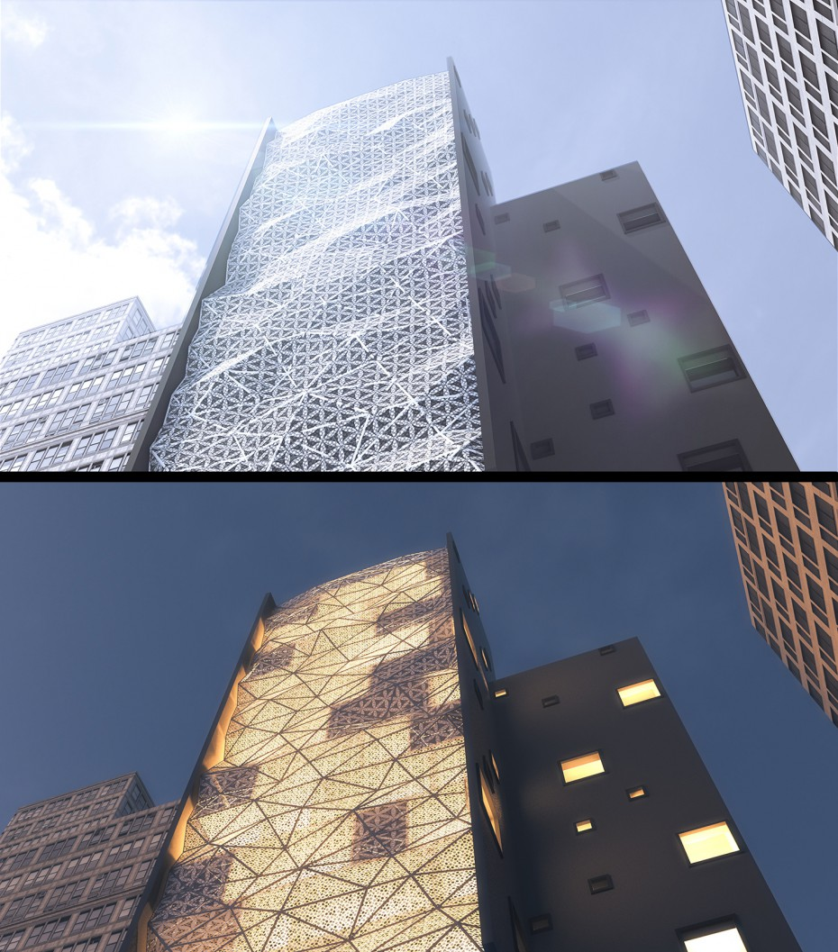 High building in 3d max corona render image