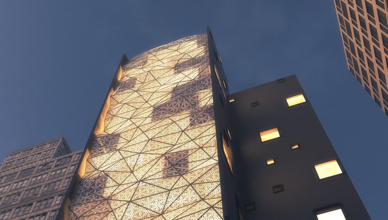 imagen de Edificio alto en 3d max corona render