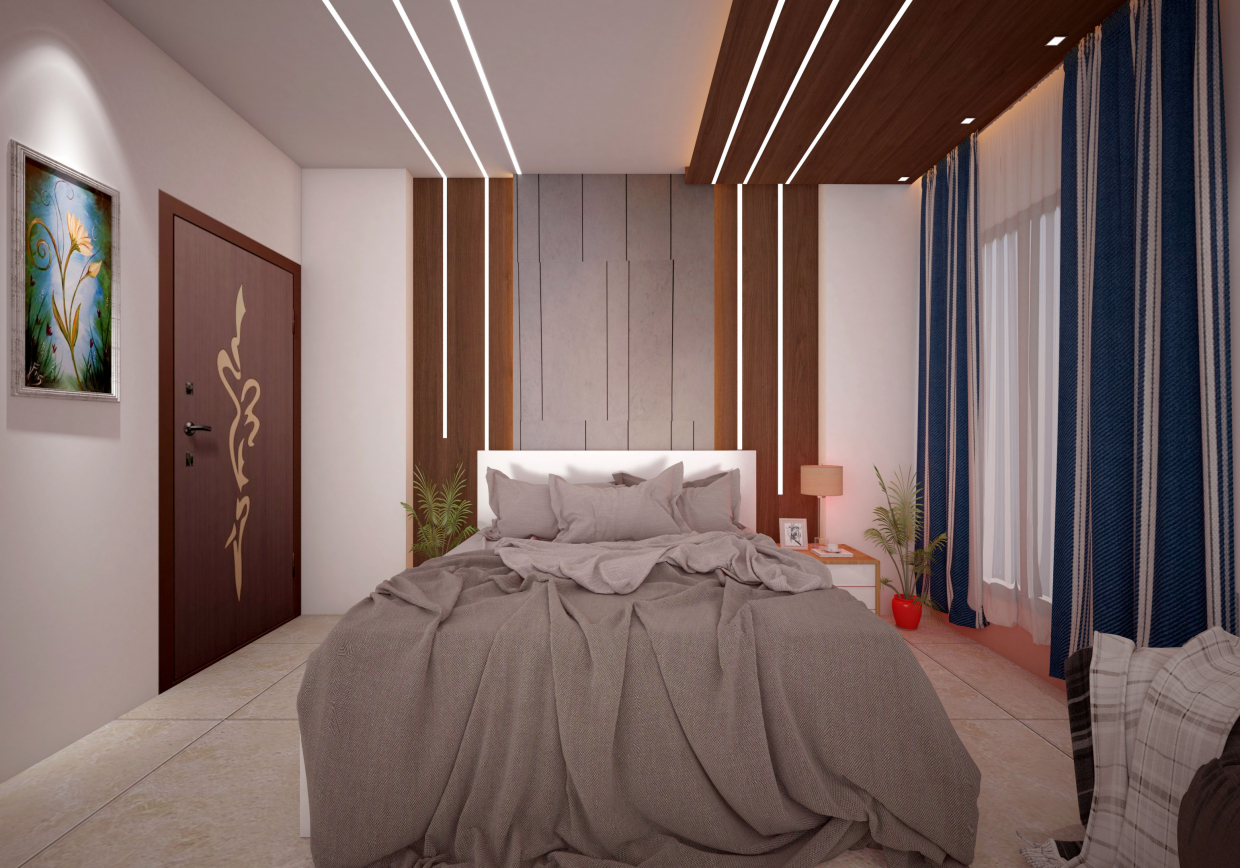 Bed room in 3d max vray 3.0 image