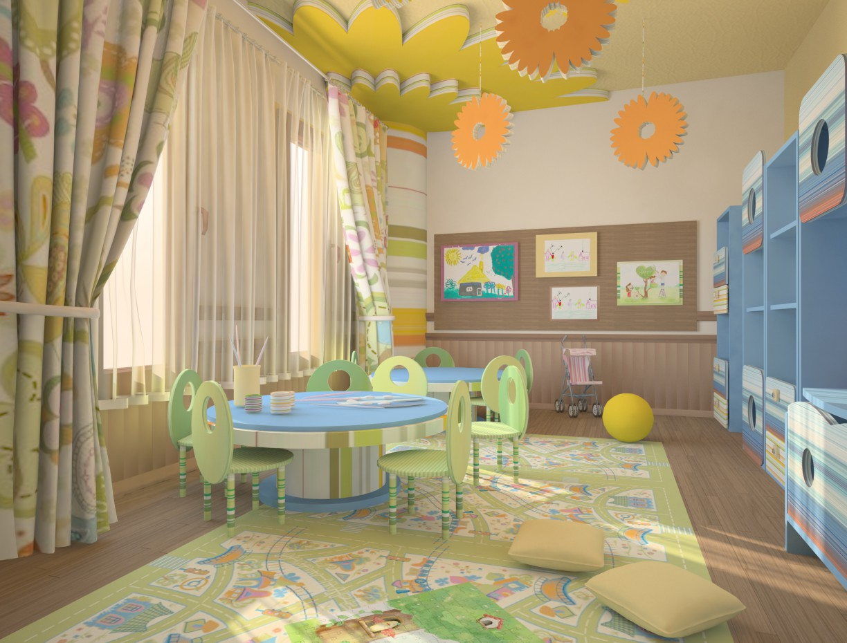 Nursery))))) in 3d max vray image