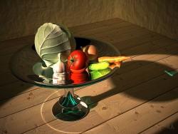 सब्जियों के साथ अभी भी जीवन