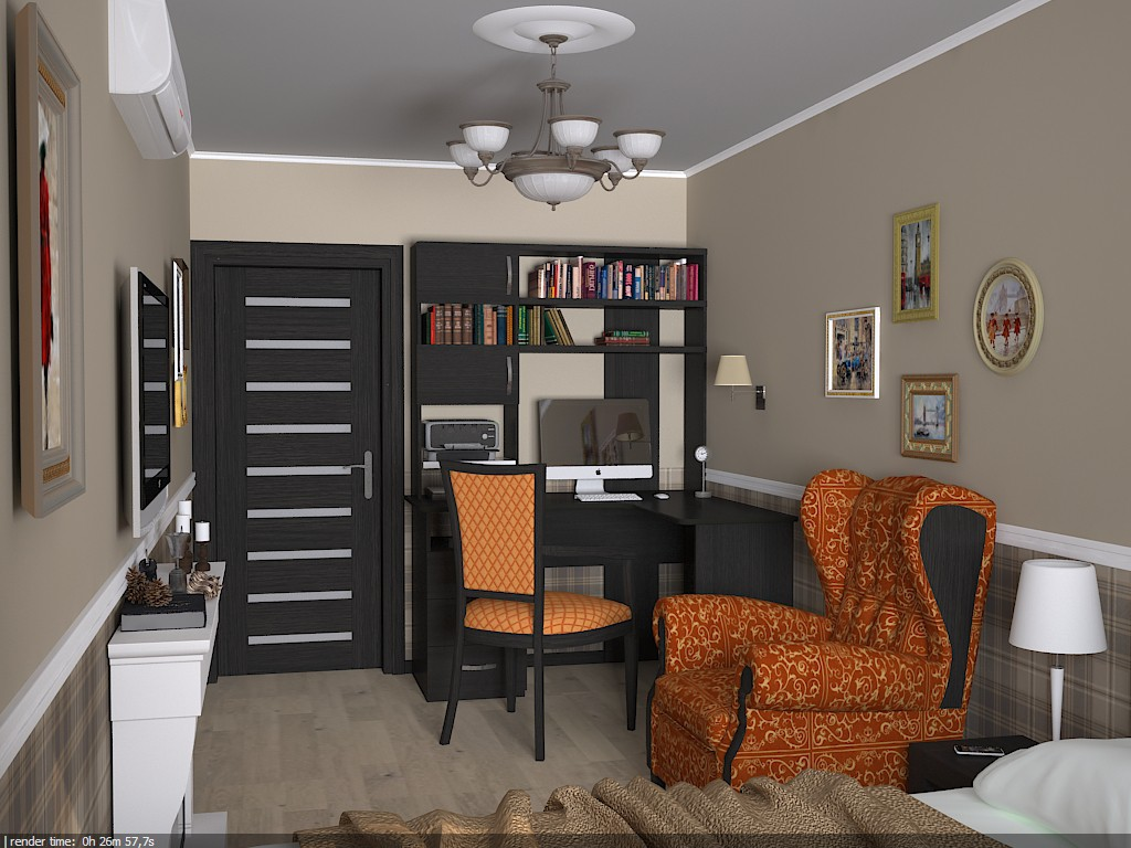 Bedroom in Chelm in 3d max vray image
