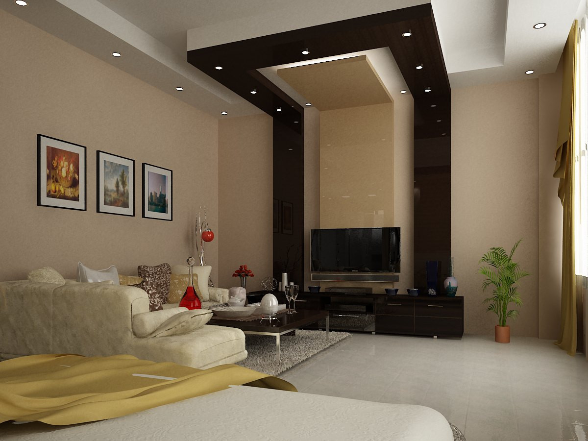 modern simple master bedroom 3d visualization and design ...