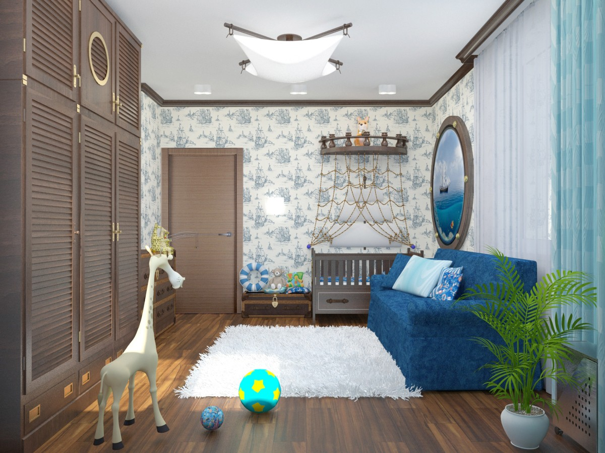 Nursery  in  3d max   vray  image