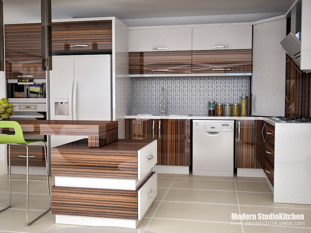Kitchen model Iranian in 3d max vray image