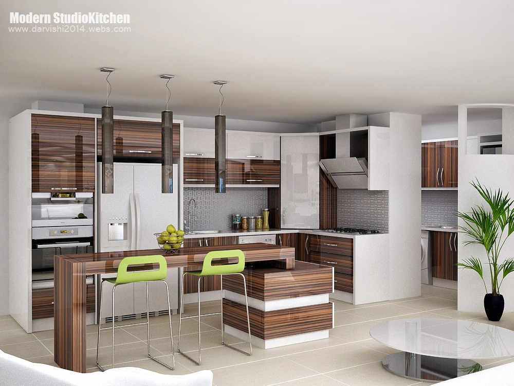 3d visualization of the project in the Kitchen model Iranian 3d max, render vray of mohamaddarvishi