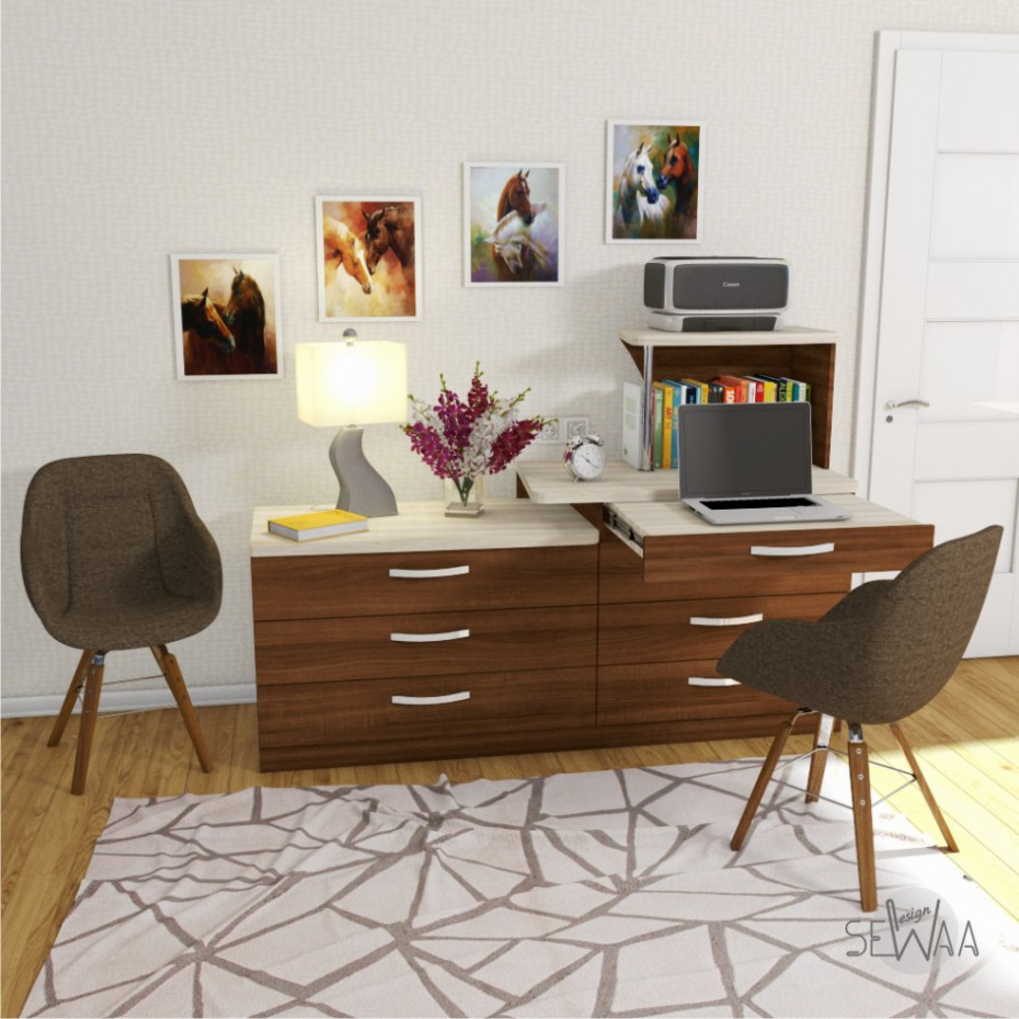 Chest of drawers with a table in 3d max vray image