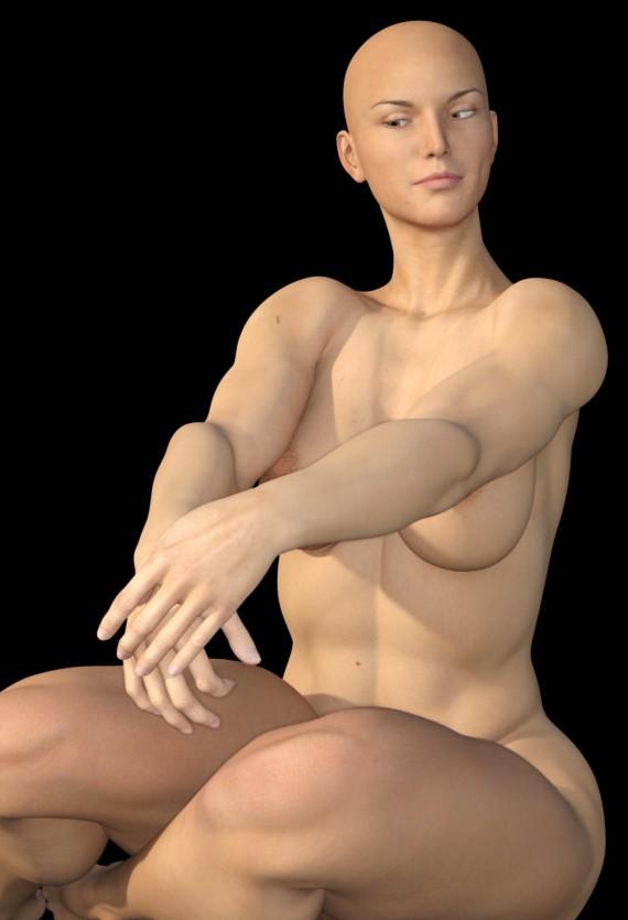 Лиса, але сильна дівчина в Marvelous Designer maxwell render зображення