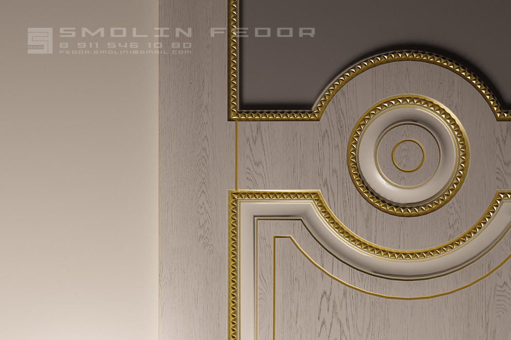 Door in 3d max vray 3.0 image