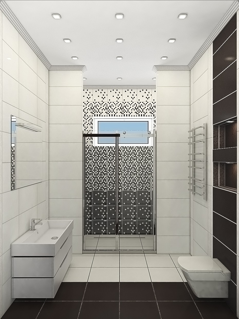 3d visualization of the project in the Bathroom 3d max, render vray of Vasilij Starko