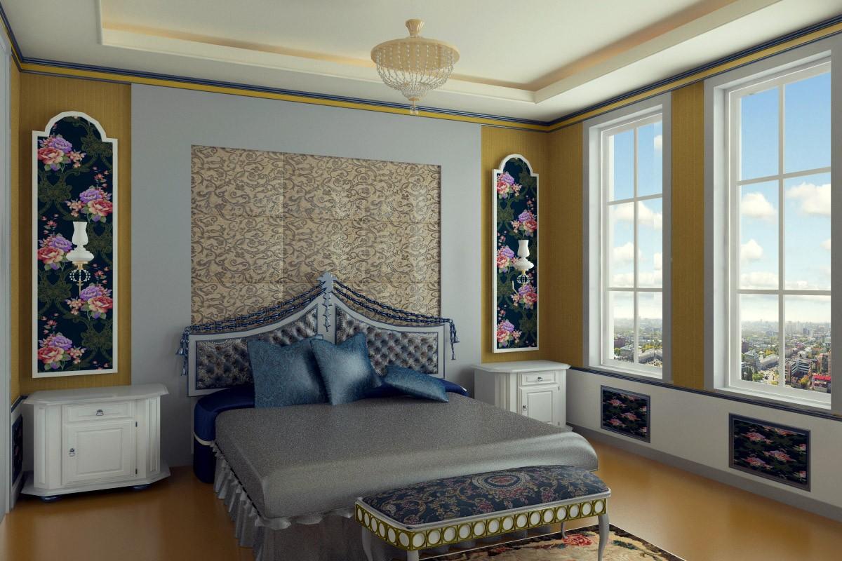 visualización 3D del proyecto en el Diseño de dormitorio 3d max render vray 2.5 jupiter