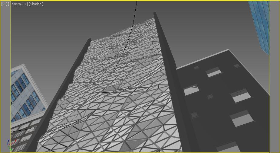 Building in 3d max corona render image