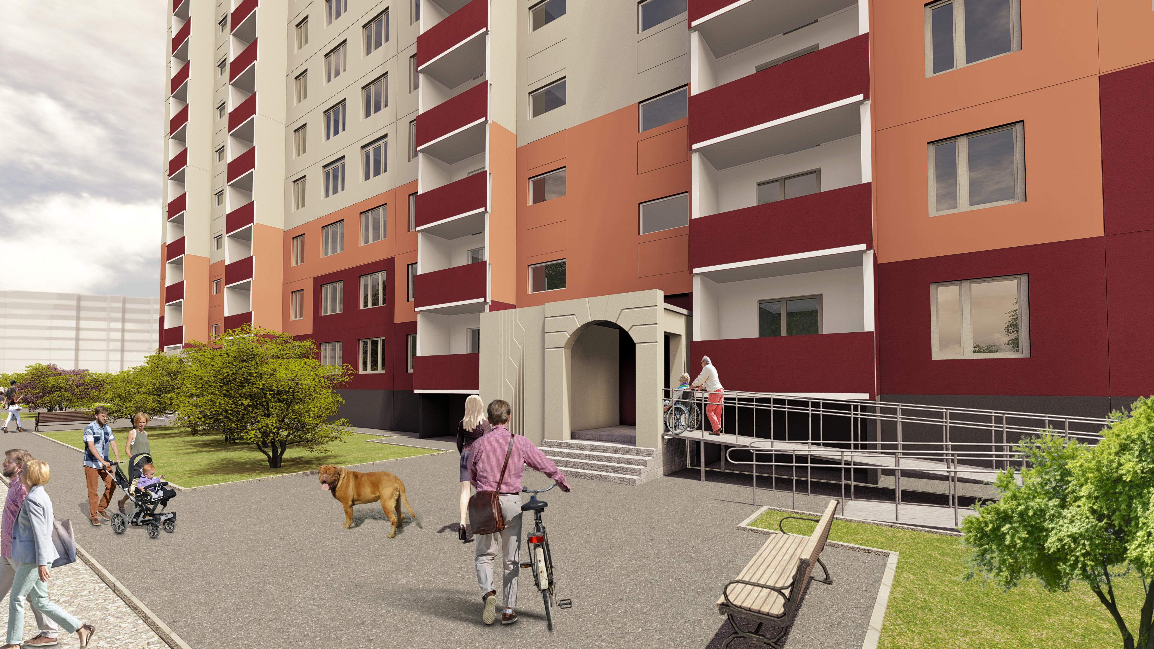 Pskov Krupskaya 24 3d max vray 3.0 में प्रस्तुत छवि