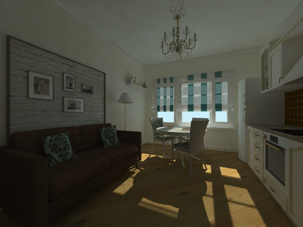 3d visualization of the project in the first attempts 3d max, render vray of николай николаевич шевченко