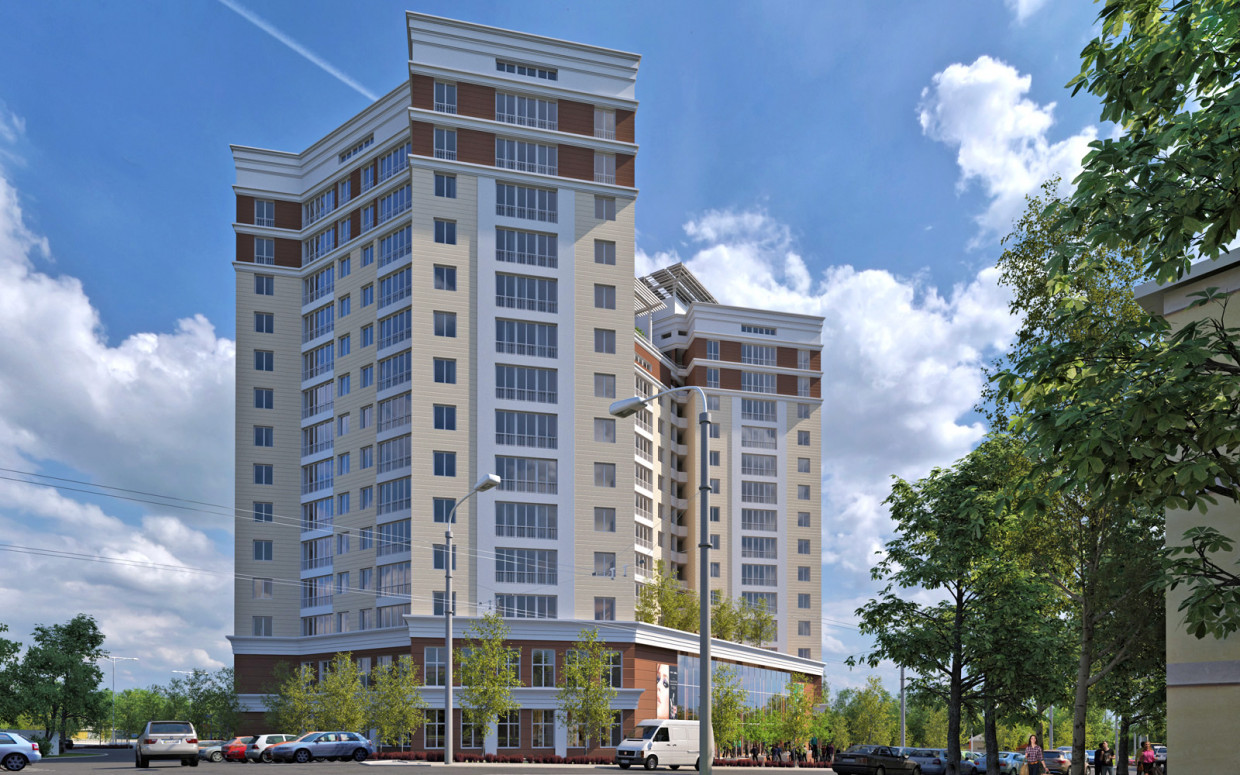 3d visualization of the project in the Residential complex in Nakhimova ave. 3d max, render corona render of Alex Kluboff