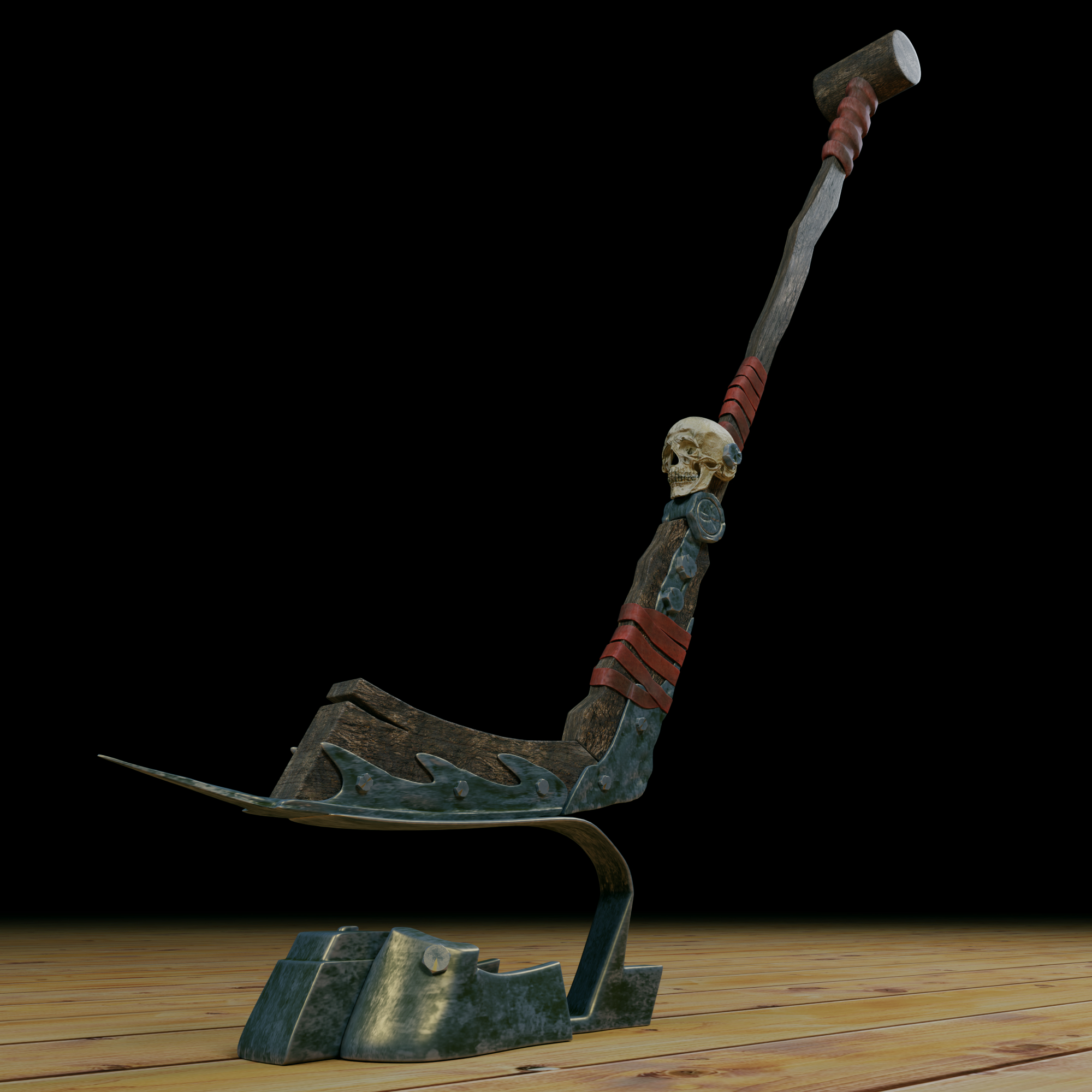 hockey stick in Blender cycles render image