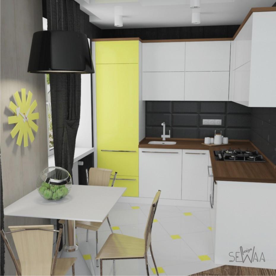 Кухня в хрущевку в 3d max vray изображение