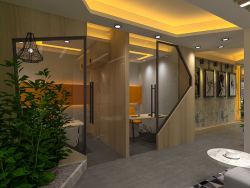 modern Office realistic 3d rendering