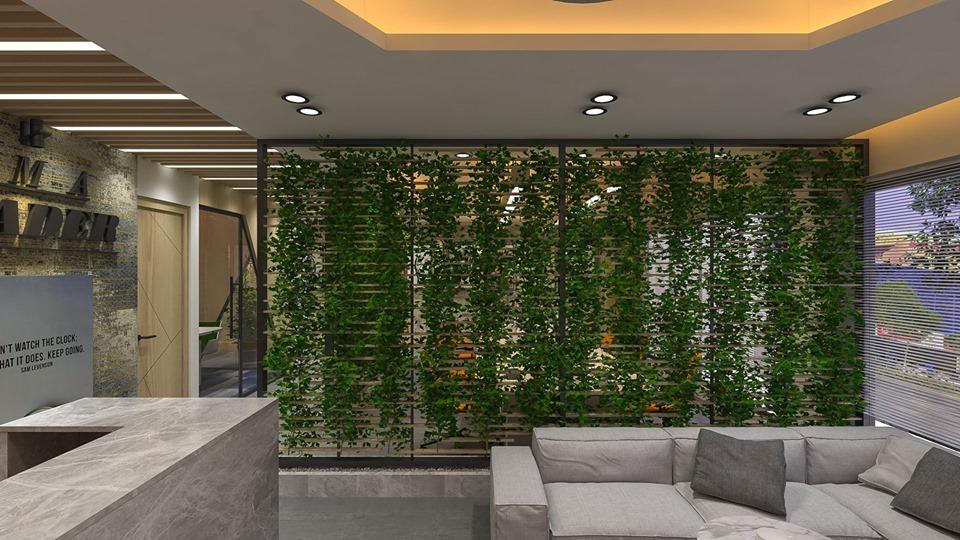 rendering 3d realistico di ufficio moderno in 3d max vray 3.0 immagine