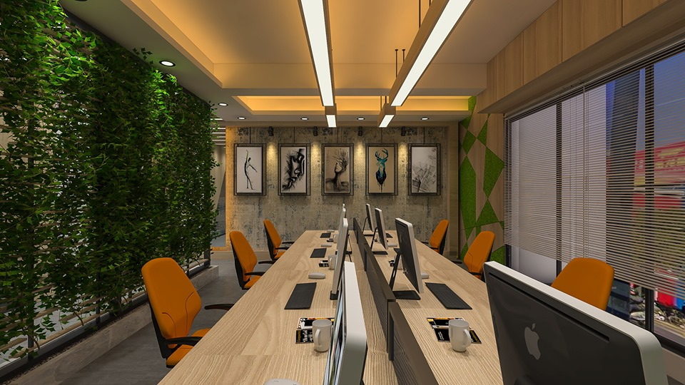 modern Office realistic 3d rendering in 3d max vray 3.0 image
