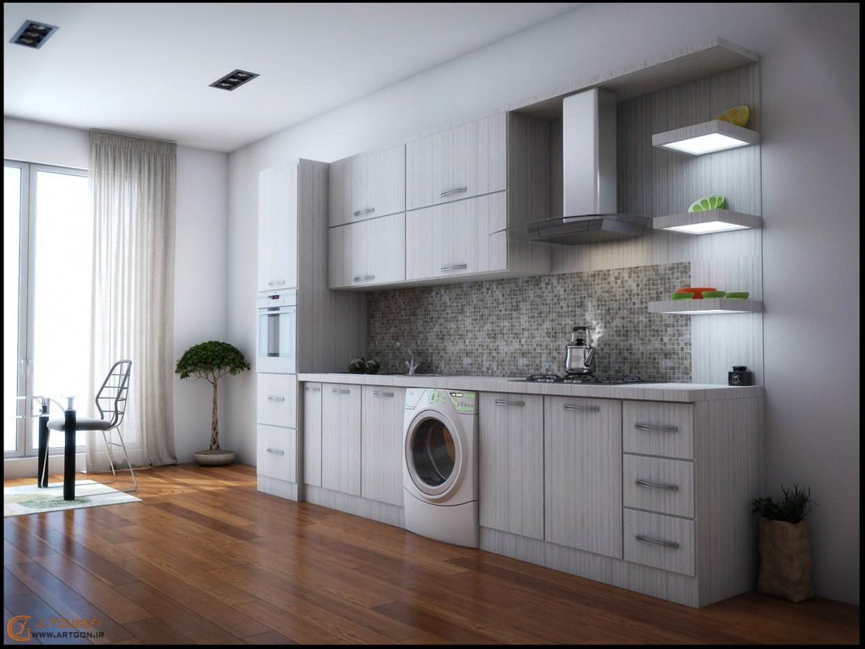 3d visualization of the project in the kitchen_ajam 3d max, render vray of javadgonbadi