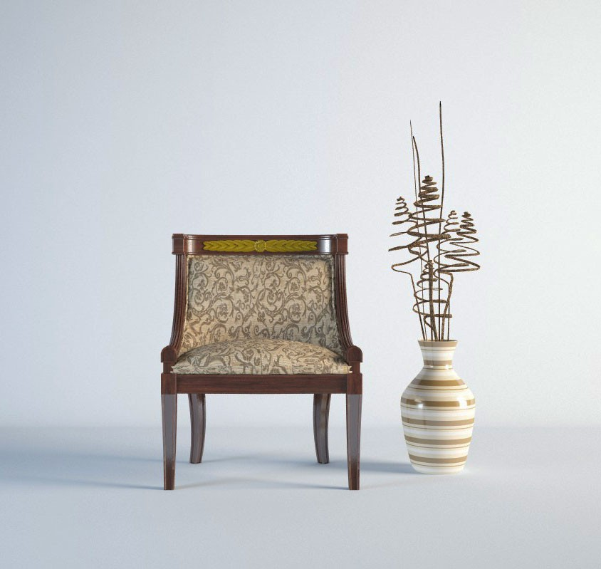 Presentation chair in 3d max vray 2.5 image