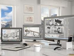 montaña oficina Annette: salón de imagen 3d