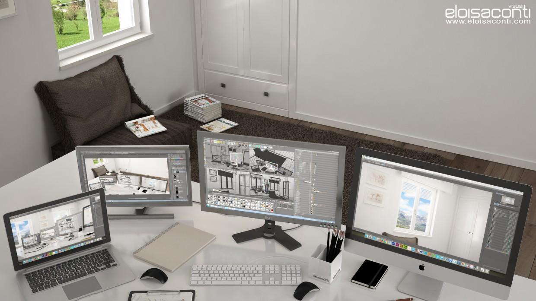 Горный офис Аннеты: живое 3d изображение в Cinema 4d vray 2.5 изображение