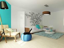 लिविंग रूम को नया स्वरूप Ekaterinburg में