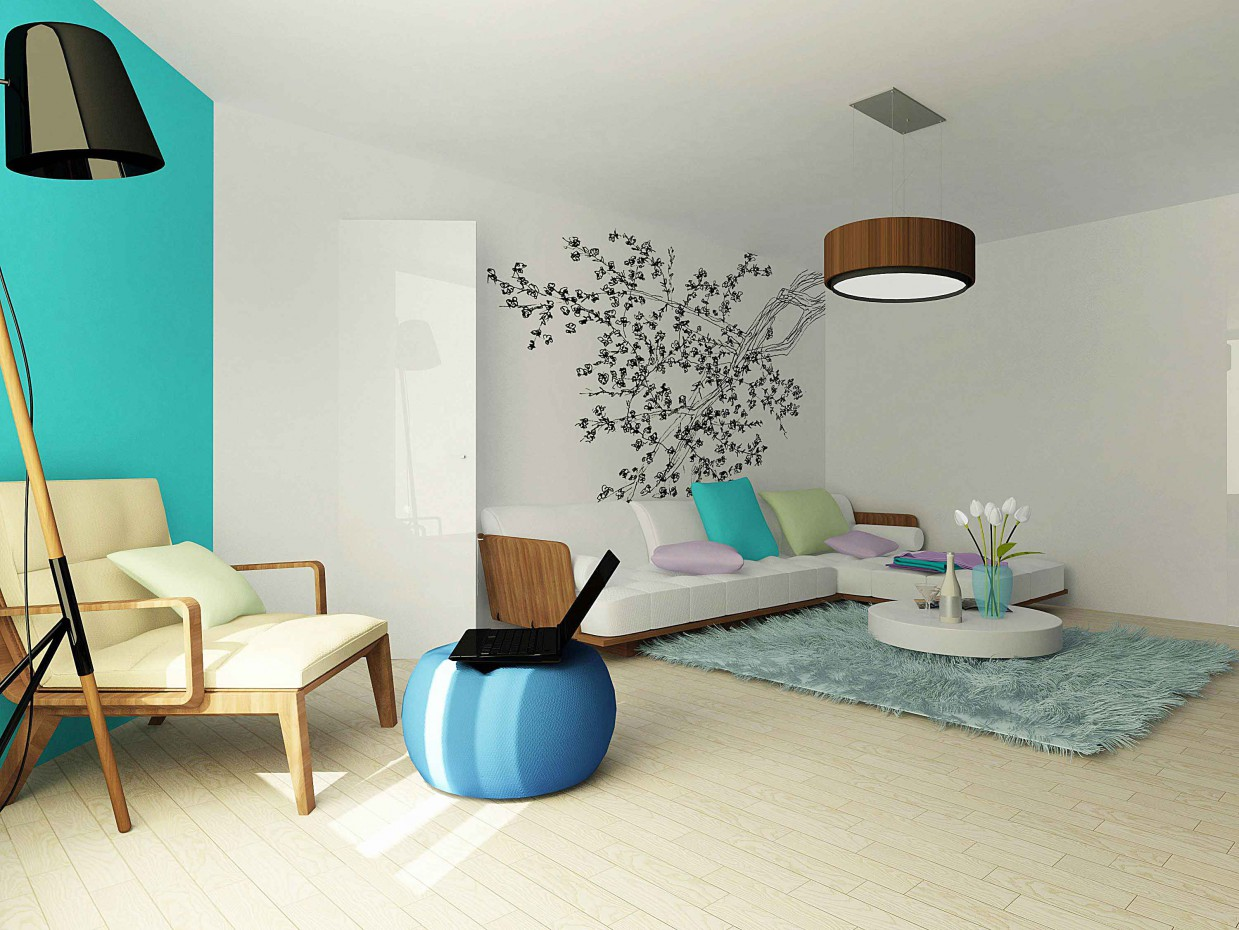 Living room redesign in Ekaterinburg in 3d max vray image