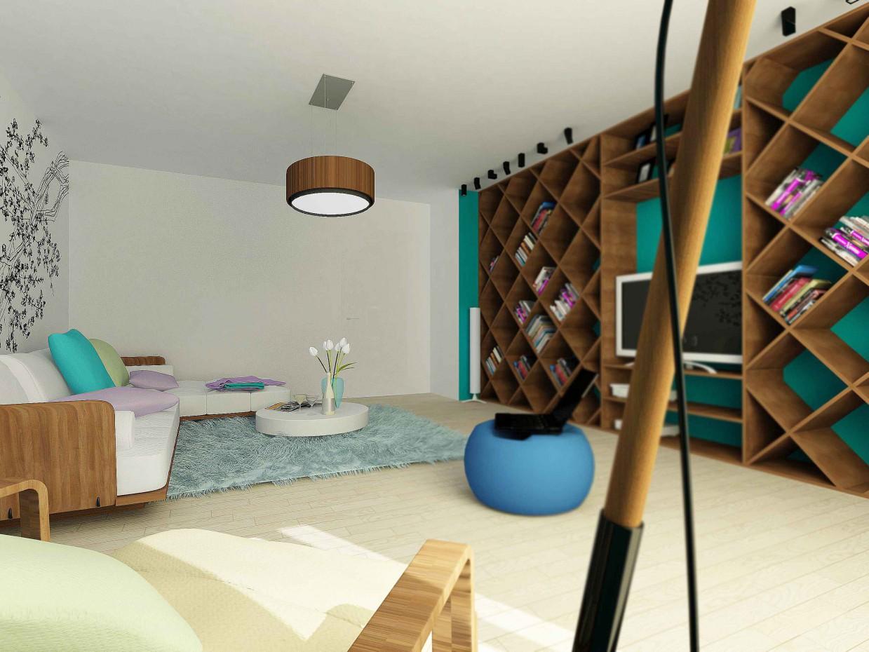 imagen de Rediseño de la sala de estar en Ekaterimburgo en 3d max vray