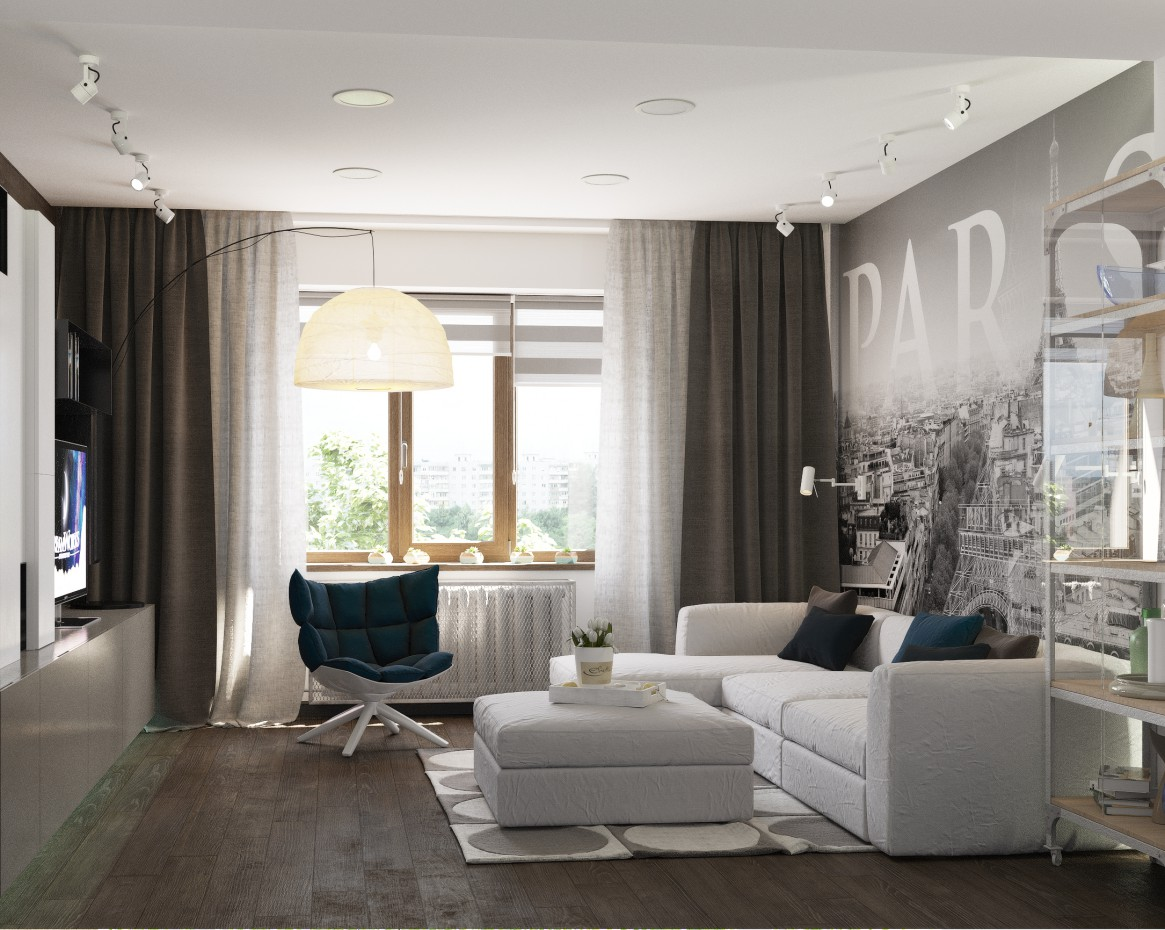imagen de Salón en 3d max corona render